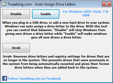 Assign drive letters