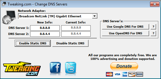 how to change my dns server